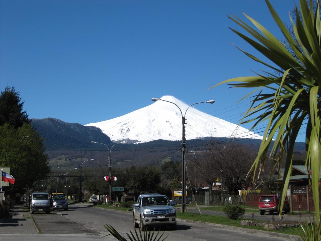 Volcano villarica, chile